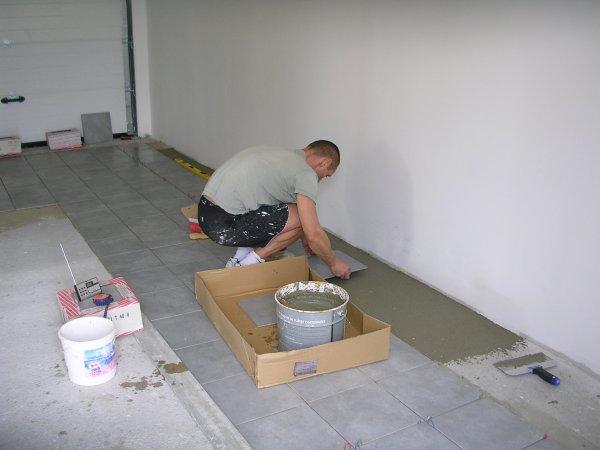 Carrelage autoconstruction for Peinture au sol pour garage