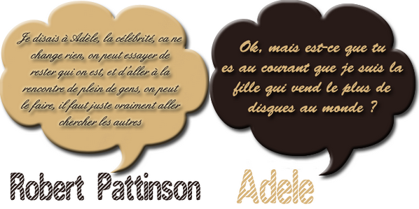 Adele VS Robert Pattinson + Top des photoshoots